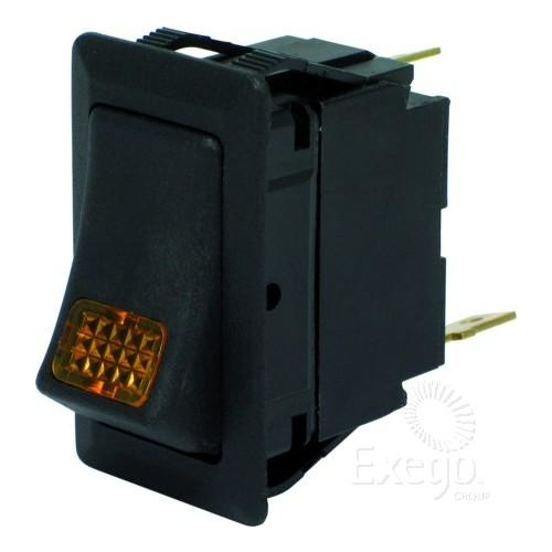 Rocker switch on/off amber light 24v